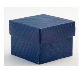 Dėžutė - Blu Scia stačiakampė / mėlyna (1 vnt./120*120*150 mm.)