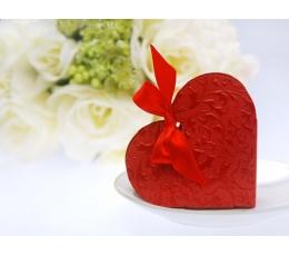 "Dėžutė ""Bordinė širdelė"" (10 vnt./10 x 9 x 3 cm.)"