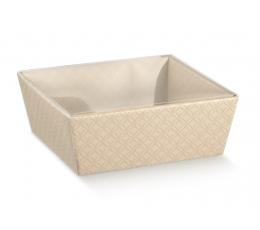 Dėžutė - kreminė/skaidrus viršus (1 vnt./400x300x115 mm.)