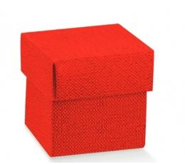 Dėžutė - kvadratinė / raudona (1 vnt./50x50x50 mm.)