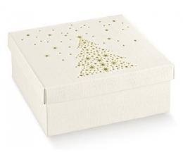 Dėžutė - kvadratinė su eglute (1 vnt./300*300*240 mm.)