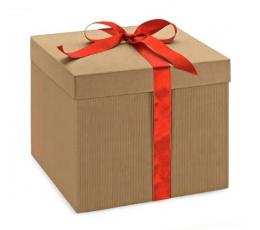 Dėžutė - On.Avana / kvadratinė /gofruota (1 vnt./300x300x120 mm)