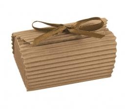 Dėžutė - Onda gofruota/ruda (1 vnt./130*90*40 mm.)