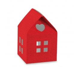"""Dėžutė """"Raudonas namelis"""" (1 vnt./55x55x80 mm.)"""