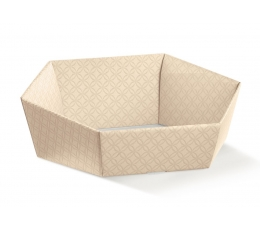 Dėžutė - šešiakampė/kreminė (1 vnt./290x230x85 mm.)
