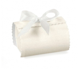 Dėžutė - Seta Bianc ovalas / balta (1 vnt./140*60*40 mm.)
