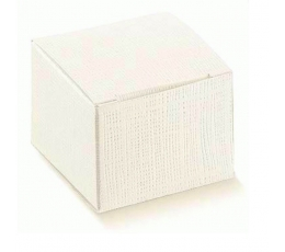 Dėžutė - Seta Bianco stačiakampė /balta (1 vnt./120*120*250 mm.)