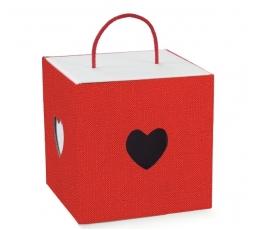 "Dėžutė ""Širdelės"" / raudona (1 vnt./210x210x210 mm.)"