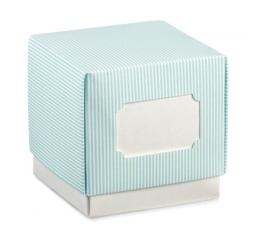 Dėžutė, melsva dryžuota (70x70x70 mm)