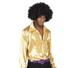 Disco stiliaus marškiniai / auksiniai (Dydis: M (46/48))
