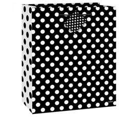 "Dovanų maišelis ""Burbuliukai/juodas"" (1vnt./33x26.5x14 cm.)"