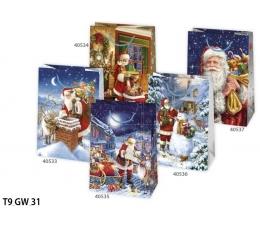 Dovanų maišelis / Kalėdinis (1 vnt./29x40x12 cm.)