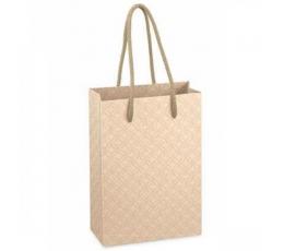 Dovanų maišelis / kreminiai ornamentai (1 vnt./160x80x230 mm.)