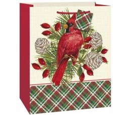 """Dovanų maišelis """"Raudonasis paukštis"""" (1 vnt./33x27x14 cm.)"""