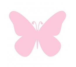 """Drugeliai """"Laimė - S""""/rožiniai (20 vnt.)"""