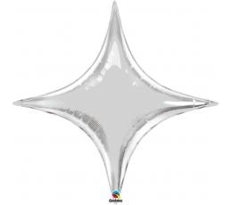 """Fol.bal. """"Sidabrinė žvaigždė""""/rombas (40"""" 97cm.x106cm.)"""