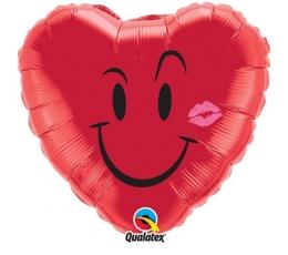 """Folinė širdelė """"Šypsena su bučkiu"""" (46 cm)"""