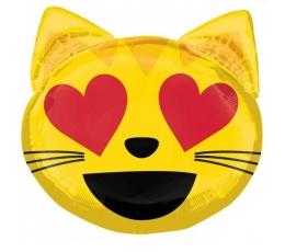 """Folinis balionas """"Emoji/katytė"""" (55 cm.)"""