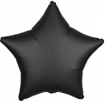 """Folinis balionas """"Juoda žvaigždė"""" (19"""" 43 cm.)"""