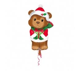 """Folinis balionas """"Kalėdų meškutis"""" (43 cm. x 73 cm.)"""