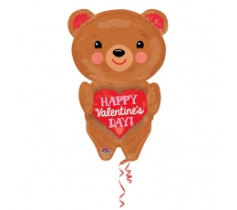 """Folinis balionas """"Meilės meškutis"""" (45 cm. x 71 cm.)"""