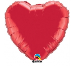 """Folinis balionas """"Raudona širdelė"""" (18"""" 46 cm./be pakuotės)"""