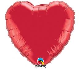 """Folinis balionas """"Raudona širdis"""" (36"""" 91 cm./ BE PAKUOTĖS)"""