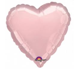 """Folinis balionas ant pagaliuko """"Rožinė širdelė"""" (13x12 cm)"""