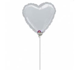 """Folinis balionas """"Pilka širdelė"""" (23 cm)"""