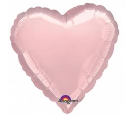 """Folinis balionas and pagaliuko """"Rožinio aukso širdelė"""" (23cm)"""