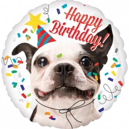 """Folinis balionas, """"Šuo/Happy Birthday!"""" (43 cm)"""