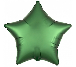 """Folinis balionas """"Žalia žvaigždė"""" (19"""" 43 cm.)"""
