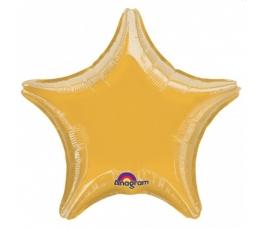 """Folinis balionas """"Žvaigždutė""""/auksinė (10 vnt./ 12*13  cm.)"""