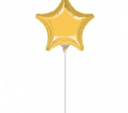 """Foliniai balionai """"Auksinės žvaigždutės"""" (10 vnt. 12x13  cm.) 0"""