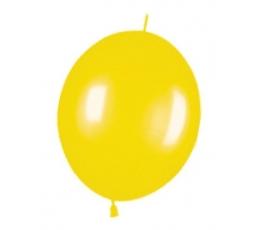 Dekoravimo balionai, geltoni (100vnt./32cm.)