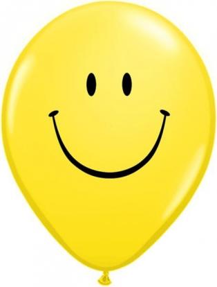 "Balionai ""Šypseniukai"", geltoni pasteliniai (100vnt./13cm. Q5)"