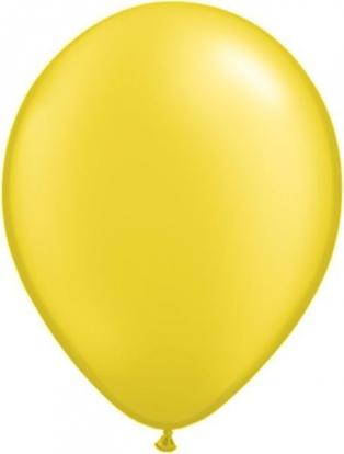 Balionai, geltoni perlamutriniai (100vnt./28cm. Q11)