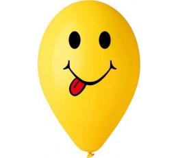 "Balionai ""Šypsenėlė su liežuviu"", geltoni (50 vnt./28cm.)"