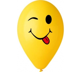 "Balionai ""Šypsenėlė su liežuviu"", geltoni(50 vnt./28cm.)"