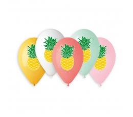 """Balionai """"Ananasai"""", įvairiaspalviai (10 vnt./33 cm.)"""