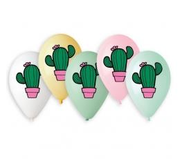 "Balionai ""Kaktusai"" / įvairiaspalviai (10 vnt./33 cm.)"
