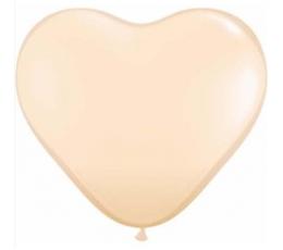 """Guminiai balionai """"Kūno spalvo širdelės"""" (100vnt./15cm. Q6)"""