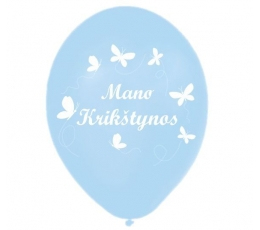 """Guminiai balionai """"Mano krikštynos"""" (100vnt./28cm.)"""