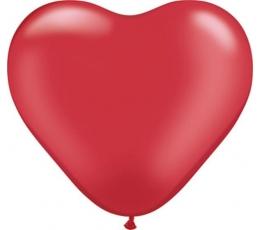 """Guminiai balionai """"Raudona širdelė"""" (100vnt./ 28 cm. Q11)"""