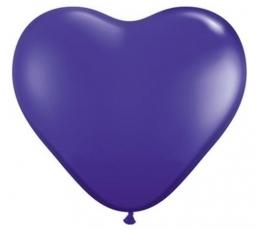 """Guminiai balionai """"Violetinė širdelė"""" (100vnt./15cm. Q6)"""