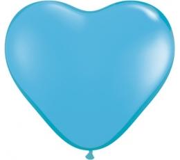 """Guminiai balionai """"Žydra širdelė"""" (100vnt./15cm.)"""