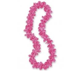 Havajietiškas kaklo papuošimas / rožinis (1 vnt.)