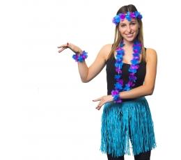 Havajietiškas papuošalų rinkinys/mėlynas