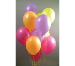 Įvair. fluorescenciniai balionai (10vnt./28 cm.)