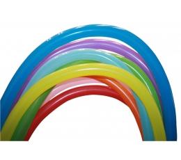 Įvairiaspalviai modeliavimo balionai (100 vnt. D4)
